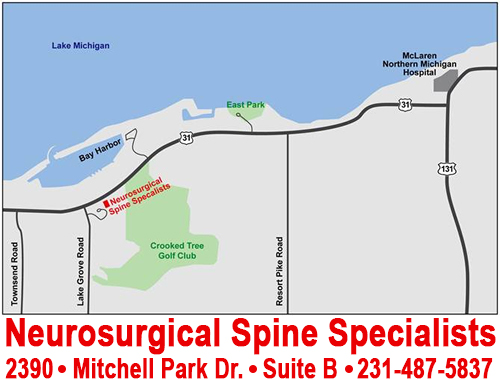 Neurosurgical Spine Specialists Petoskey Map